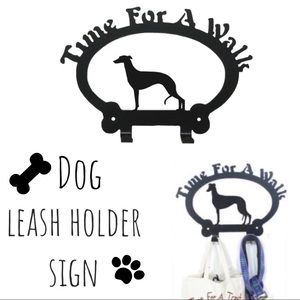 Time for a Walk Sign Dog Leash Hook